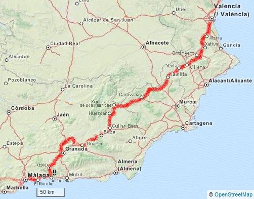Malaga Altstadt Karte.Valencia Bis Malaga