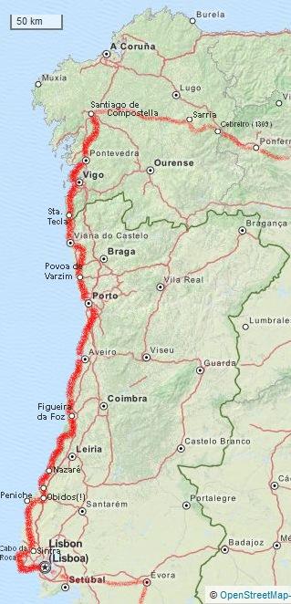 Briefe Nach Spanien Porto : Lissabon bis santiago